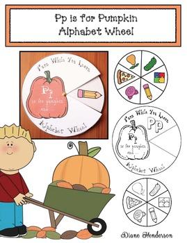 Pp is for Pumpkin Alphabet Wheel