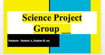 Ppt Science Fair Project Template