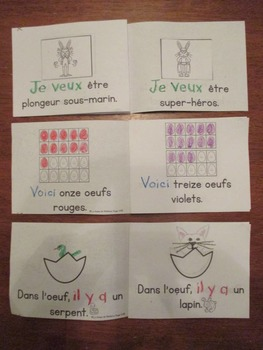 Pâques: Easter Themed Emergent Readers in French - 3 mini-books
