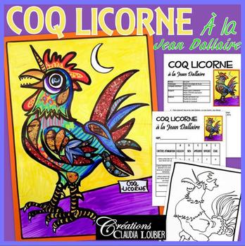 Pâques: À la manière de Jean Dallaire, le coq licorne, arts plastiques