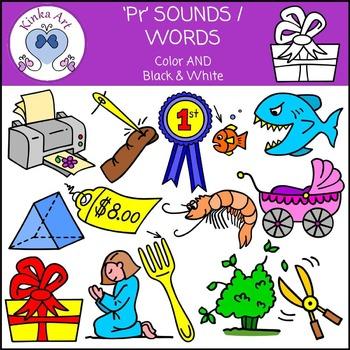 Pr Sounds / Words: Beginning Sounds Clip Art