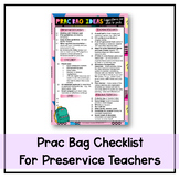 Prac Bag Checklist - Ideas for what to pack (FREE resource)
