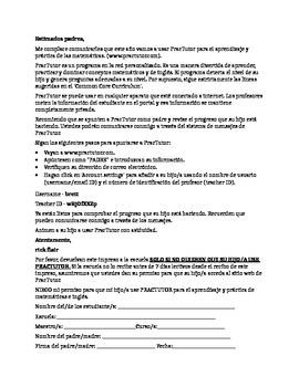 PracTutor Parent Permission Letter - Editable