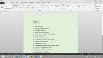 Practica Oral: Direcciones (Oral Practice with Directions)