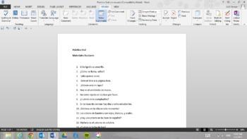 Practica Oral: Materiales Escolares (Oral Practice with School Supplies)