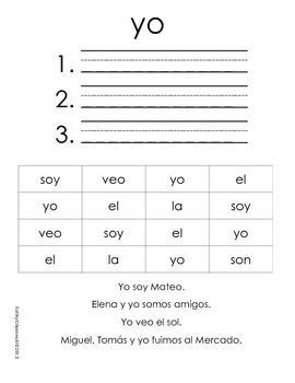 Práctica con Palabras Frecuentes [Sample Version]