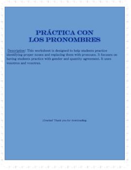 Práctica con los pronombres