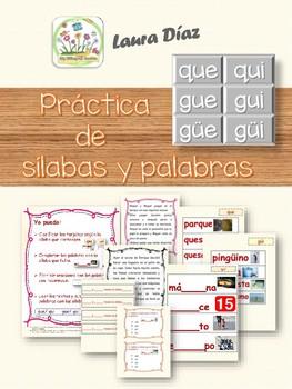 Práctica con sílabas QU _  GU_