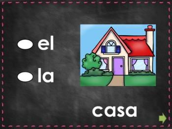 Practica de El y La (La familia y Casa) V1