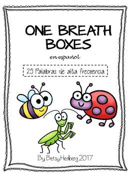 Practica de Fluidez - Palabras Frecuentes - One Breath Boxes