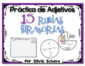 Practica de adjetivos: 15 Ruedas giratorias
