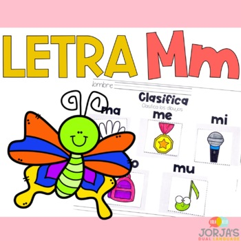 Letra Mm Letter Mm Spanish
