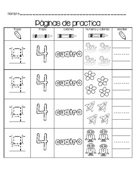 Practica de números del 0 al 20