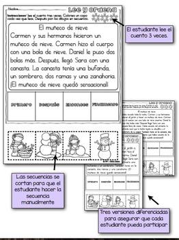 Práctica de secuencias con dibujos - BUNDLE