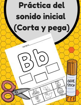 Practica de la letra inicial (Corta y Pega) Beginning Sound in Spanish