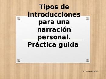 Practica tipos de introducciones para una buena composicion narrativa
