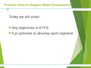 Practical Activities to Support Maths for Presentation/Workshop for Parents