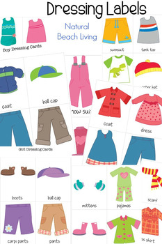 Practical Life Skills - Dressing Cards