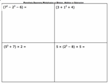 Practical Order Of Operations - 5.OA.1