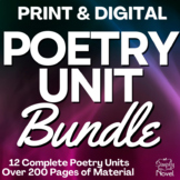 Poetry Unit: Common Core Text Exemplars for Poetry PACKET | DISTANCE LEARNING