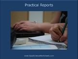 Practical Reports [Presentation]
