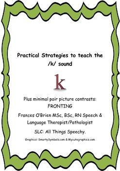 Practical ideas to teach the K Sound