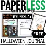 Practically Paperless™ FREE Halloween Journal {Whiteboard-based}