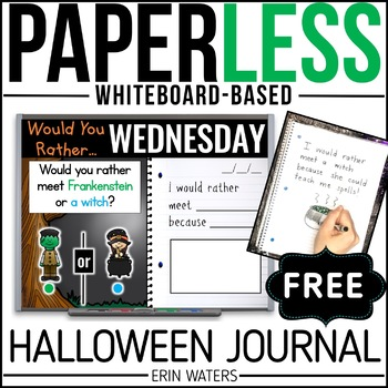 Practically Paperless™ FREE Halloween Journal {Whiteboard-based}