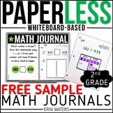 Practically Paperless™ Math Journal {2nd Grade FREE SAMPLE}