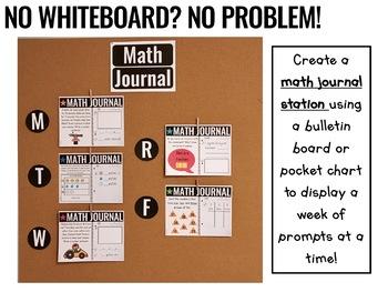 Practically Paperless™ Math Journal 2nd Grade {Whiteboard-based & EDITABLE}