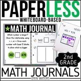 Paperless Math Journal   2nd Grade Math   Editable   Distance Learning