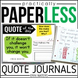 Practically Paperless™ Quote Journal [Growth Mindset & More!]