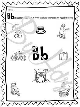 Practicando la Letra Bb