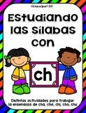 Practicando las sílabas con ch: cha, che, chi, cho, chu