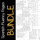 Practicas de Fluidez {Spanish Fluency Practice} - BUNDLE
