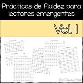 Practicas de fluidez para lectores emergentes Vol 1 (Spani