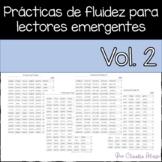 Practicas de fluidez para lectores emergentes Vol 2 (Spani
