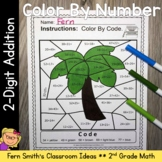Go Math 2nd Grade 4.7 Practice 2-Digit Addition Color By N