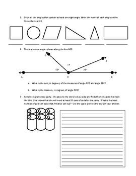 Practice AIR Test 4th Grade Math