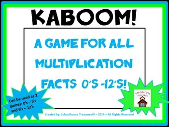 Practice All Multiplication Facts 0-12 with Kaboom!