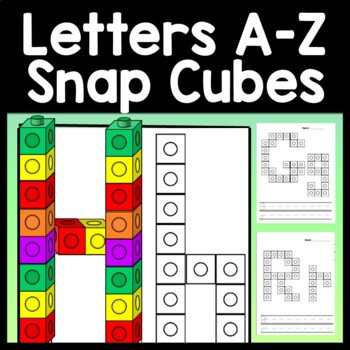 Alphabet Activities with Snap Cube Letters {26 Pages A-Z}