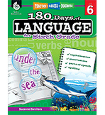 Practice, Assess, Diagnose: 180 Days of Language for Sixth Grade (Physical Book)