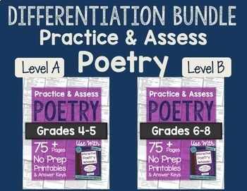 Practice & Assess Poetry: Differentiation BUNDLE!