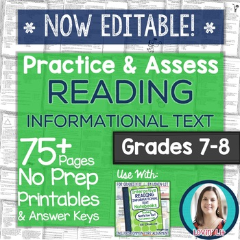 Practice & Assess READING INFORMATIONAL TEXT: Grades 7-8 N