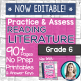 Reading Literature Printables - Worksheets and Tests Grade 6