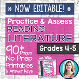 Reading Literature Printables - Worksheets and Tests Grades 4-5