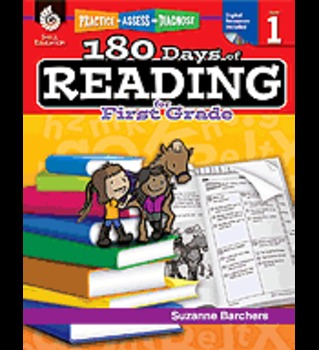 Practice, Assess, and Diagnose: 180 Days of Reading: Grade 1