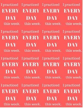 Practice Brag Tags