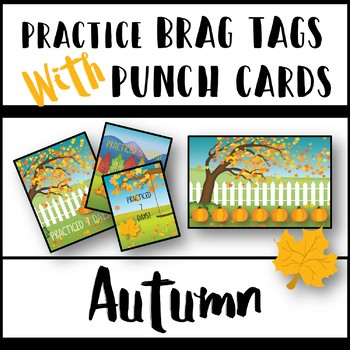 Practice Brag Tags with Punch Cards - Autumn Theme