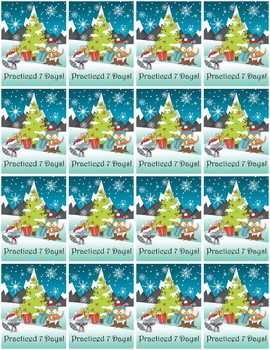 Practice Brag Tags with Punch Cards - Christmas Edition